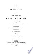 The Speeches Of Henry Grattan In The Irish And In The Imperial Parliament Ed By His Son