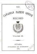 Canadian Mechanics' Magazine and Patent Office Record
