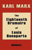 Pdf The Eighteenth Brumaire of Louis Bonaparte Telecharger