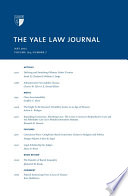 Yale Law Journal Volume 124 Number 7 May 2015