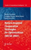 Nature Inspired Cooperative Strategies for Optimization  NICSO 2007