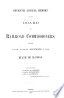 Annual Report Of The Board Of Railroad Commissioners For The Year Ending