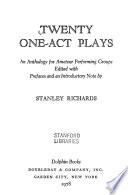Twenty One-Act Plays