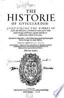The Historie of Gvicciardin