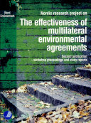 The effectiveness of multilateral environmental agreements