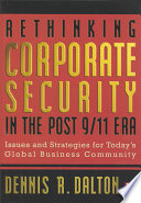 Rethinking Corporate Security in the Post 9 11 Era Book