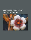 American People of Dutch Descent