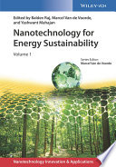 Nanotechnology for Energy Sustainability  3 Volume Set Book