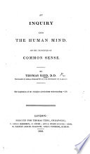 An Inquiry Into The Human Mind With An Account Of The Life And Writings Of The Author