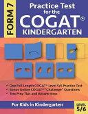 Practice Test for the CogAT Kindergarten Form 7 Level 5/6