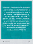 History of Lucas County, Iowa