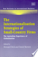 The Internationalisation Strategies of Small country Firms Book