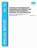 Assessment of Sampling Error Associated with Collection and Analysis of Soil Samples at Explosives Contaminated Sites