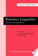 Romance Linguistics
