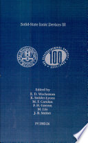 Solid state Ionic Devices III Book