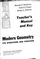 Modern Geometry  Its Structure and Function