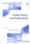 Public Policy and Federalism Book