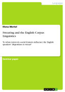 Swearing and the English Corpus Linguistics
