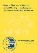 Book of Abstracts of the 61st Annual Meeting of the European Association for Animal Production