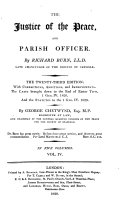 The Justice of the Peace  and Parish Officer