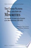The United Nations Declaration On Minorities