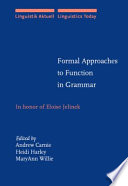 Formal Approaches To Function In Grammar