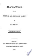 Transactions Of The Medical And Physical Society Of Calcutta