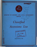 Classified Accessions List