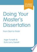 Doing Your Master s Dissertation