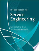Introduction To Service Engineering Book PDF