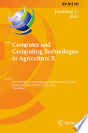 Computer And Computing Technologies In Agriculture X Book PDF