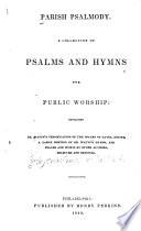 Parish Psalmody Book