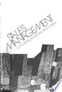 Sales Management: Concepts, Practices, and Cases