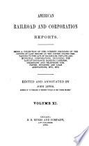 American Railroad and Corporation Reports Book PDF