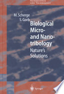 Biological Micro And Nanotribology Book PDF