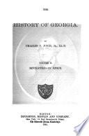 The History of Georgia  Revolutionary epoch Book