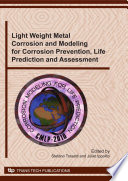 Light Weight Metal Corrosion And Modeling Book PDF
