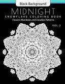 Snowflake Coloring Book Midnight Edition Vol  2