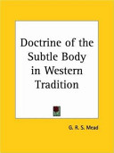 Doctrine of the Subtle Body in Western Tradition