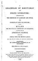 A Grammar of Rhetoric  and Polite Literature