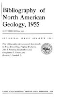 Bibliography of North American Geology, 1955
