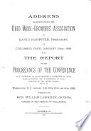 Address Delivered Before the Ohio Wool Growers  Association by David Harpster  President  at Columbus  Ohio  January 24th  1888