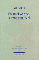 The Book of Amos in Emergent Judah