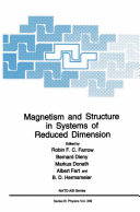 Pdf Magnetism and Structure in Systems of Reduced Dimension