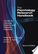 The Psychology Research Handbook Book