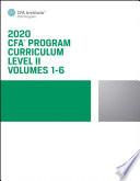 CFA Program Curriculum 2020 Level II Volumes 1-6 Box Set