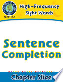 High Frequency Sight Words  Sentence Completion