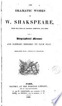 The Dramatic Works Of W Shakespeare From The Text Of Johnson Steevens And Reed