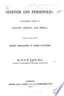 Nineveh and Persepolis Book