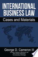 International Business Law Cases And Materials